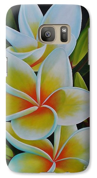 Galaxy Case featuring the painting Plumeria by Paula L