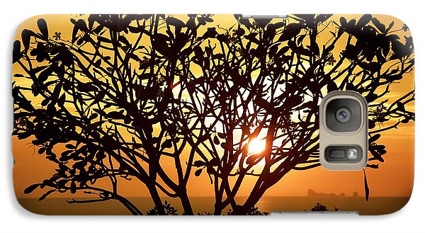 Galaxy Case featuring the photograph Plumeria Sunset by Colleen Williams