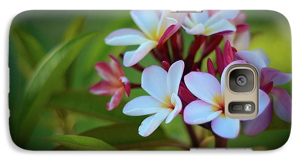 Galaxy Case featuring the photograph Plumeria Sunset by Kelly Wade