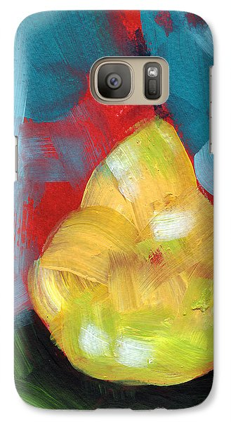 Pear Galaxy S7 Case - Plump Pear- Art By Linda Woods by Linda Woods
