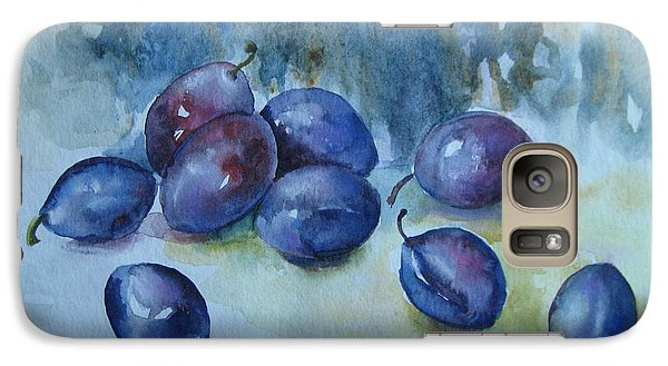 Galaxy Case featuring the painting Plums by Elena Oleniuc