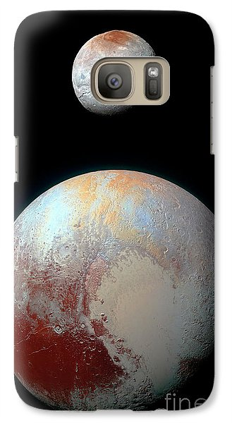 Galaxy Case featuring the photograph Pluto And Charon by Nicholas Burningham