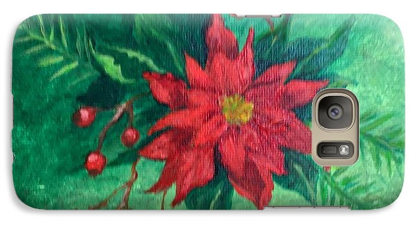 Galaxy Case featuring the painting Poinsettia by Lucia Grilletto