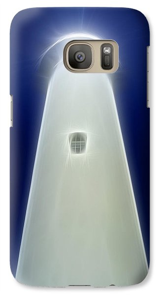 Galaxy Case featuring the digital art Point Arena Lighthouse by Holly Ethan