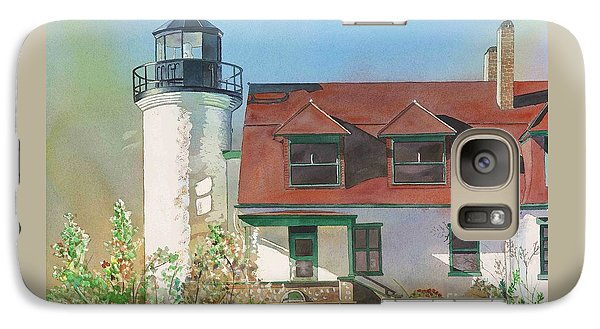 Galaxy Case featuring the painting Point Betsie Lighthouse by LeAnne Sowa
