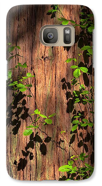 Galaxy Case featuring the photograph Poison-oak On Incense Cedar by Alexander Kunz
