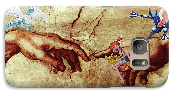 Galaxy Case featuring the digital art Pokeangelo Sistine Chapel by Greg Sharpe