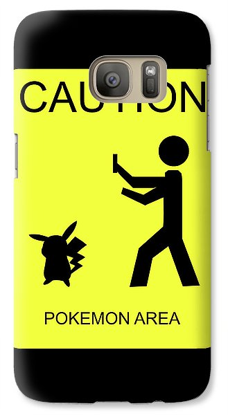Galaxy Case featuring the digital art Pokemon Area by Shane Bechler