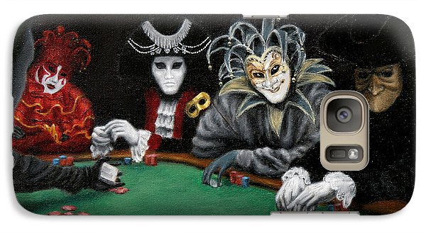 Galaxy Case featuring the painting Poker Face by Jason Marsh