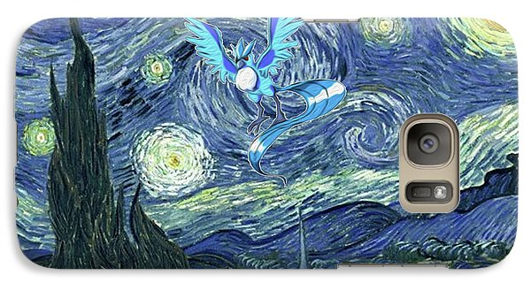 Galaxy Case featuring the digital art Pokevangogh Starry Night by Greg Sharpe