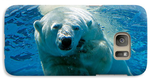Galaxy Case featuring the photograph Polar Bear Contemplating Dinner by John Haldane