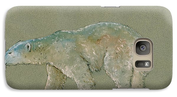 Bear Galaxy S7 Case - Polar Bear Original Watercolor Painting Art by Juan  Bosco