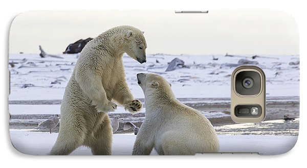 Polar Bear Play-fighting Galaxy S7 Case