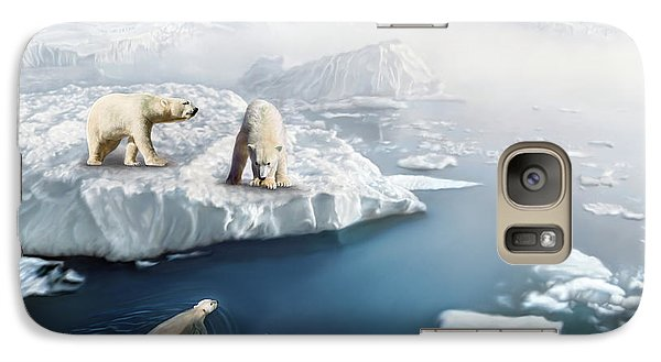 Galaxy Case featuring the digital art Polar Bears by Thanh Thuy Nguyen