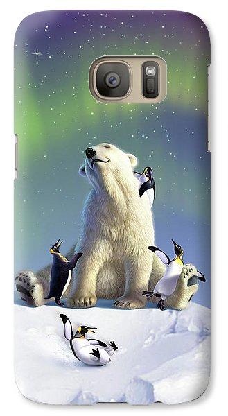Penguin Galaxy S7 Case - Polar Opposites by Jerry LoFaro