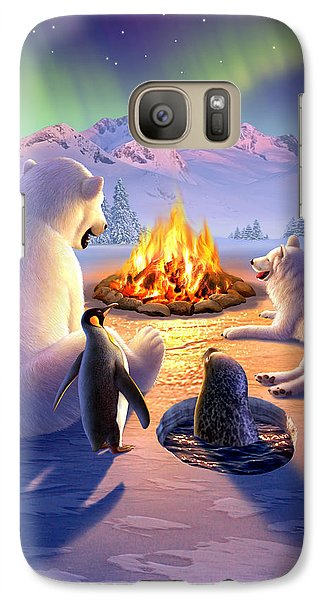 Bear Galaxy S7 Case - Polar Pals by Jerry LoFaro