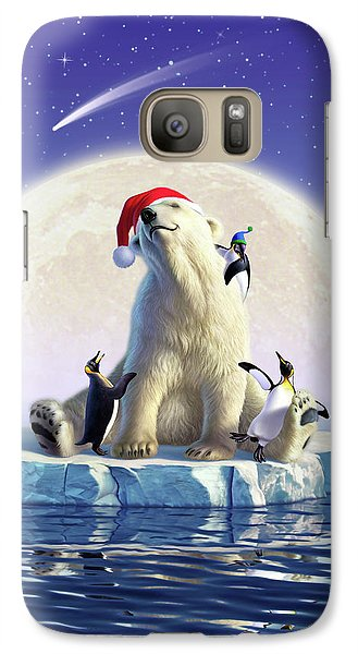 Penguin Galaxy S7 Case - Polar Season Greetings by Jerry LoFaro