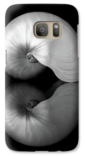 Galaxy Case featuring the photograph Polished Nautilus Shell And Reflection by Jim Hughes