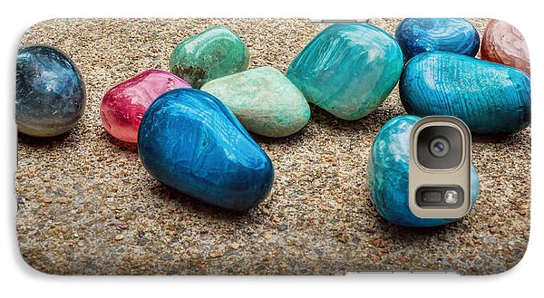 Galaxy Case featuring the photograph Polished Stones - Photography by Ann Powell