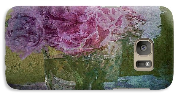 Galaxy Case featuring the digital art Polite Peonies by Alexis Rotella