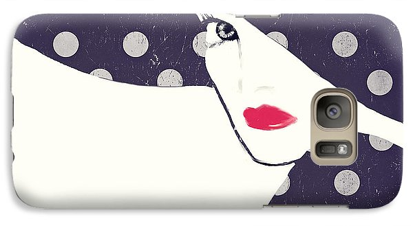 Polka Dot Fashion Hat Galaxy Case by Mindy Sommers
