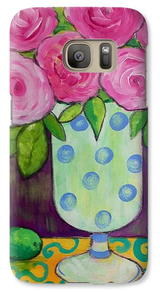 Galaxy Case featuring the painting Polka-dot Vase by Rosemary Aubut