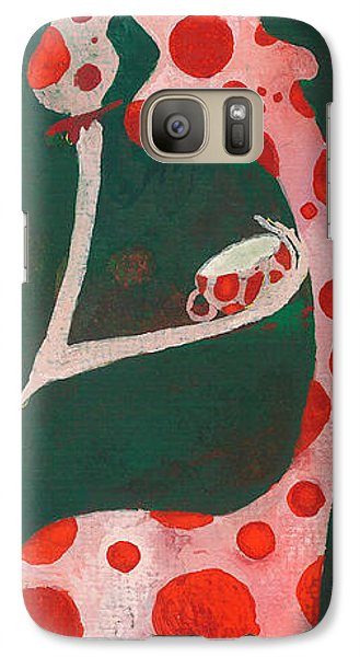 Galaxy Case featuring the painting Polka Dots by Maya Manolova