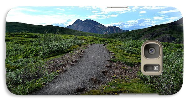 Galaxy Case featuring the photograph Polychrome Pass Trail, Denali by Zawhaus Photography