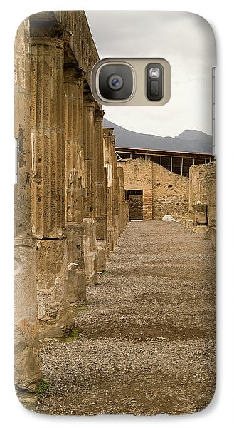 Galaxy Case featuring the photograph Pompeii Columns by Michael Flood