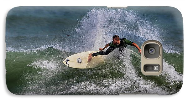 Galaxy Case featuring the photograph Ponce Surfer 2017 by Deborah Benoit