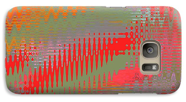 Galaxy Case featuring the digital art Pond Abstract - Summer Colors by Ben and Raisa Gertsberg