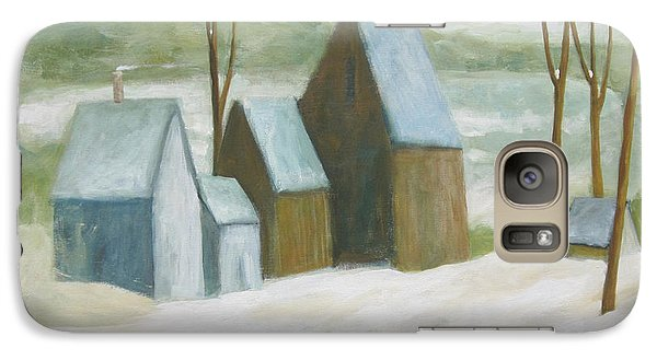 Galaxy Case featuring the painting Pond Farm In Winter by Glenn Quist