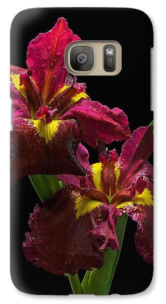 Galaxy Case featuring the photograph Pond Iris by Robert Pilkington