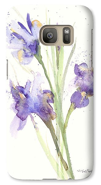 Galaxy Case featuring the painting Pond Iris by Sandra Strohschein