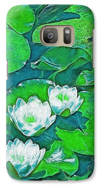 Galaxy Case featuring the photograph Pond Lily 2 by Pamela Cooper