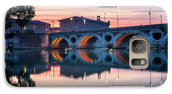 Galaxy Case featuring the photograph Pont Neuf In Toulouse At Sunset by Elena Elisseeva