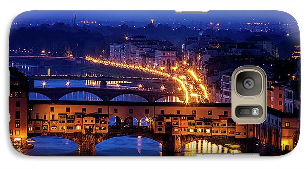 Galaxy Case featuring the photograph Ponte Vecchio At Twilight by Andrew Soundarajan