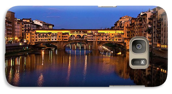 Galaxy Case featuring the photograph Ponte Vecchio Dusk  by Harry Spitz