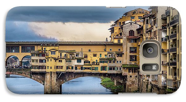 Galaxy Case featuring the photograph Ponte Vecchio E Gabbiani by Sonny Marcyan