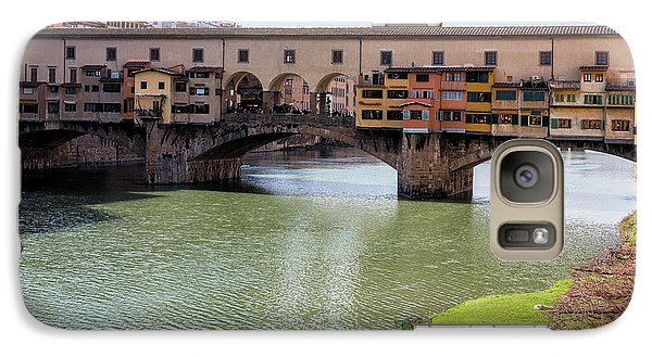 Galaxy Case featuring the photograph Ponte Vecchio Florence Italy II by Joan Carroll