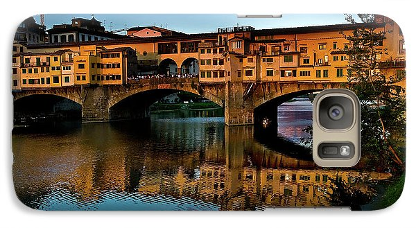 Galaxy Case featuring the photograph Ponte Vecchio From West  by Harry Spitz