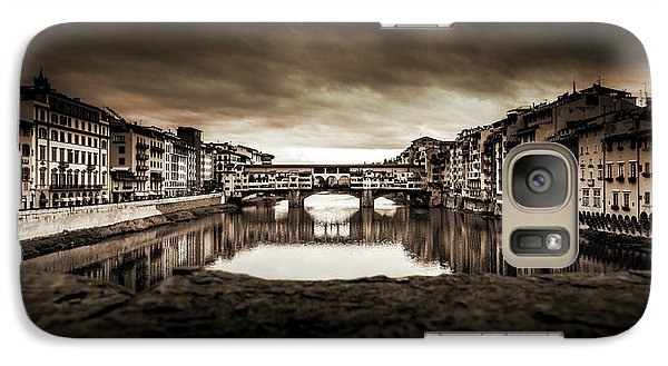 Galaxy Case featuring the photograph Ponte Vecchio In Sepia by Sonny Marcyan