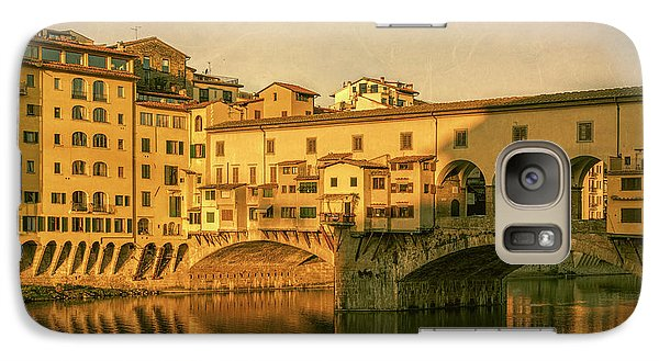 Galaxy Case featuring the photograph Ponte Vecchio Morning Florence Italy by Joan Carroll