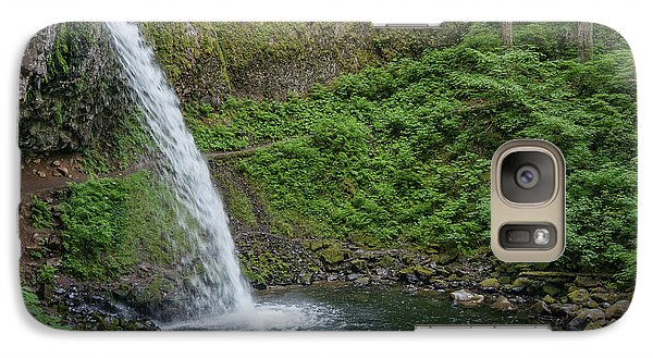 Galaxy Case featuring the photograph Ponytail Falls by Greg Nyquist