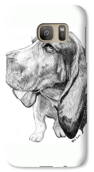 Galaxy Case featuring the drawing Pooch by Mike Ivey