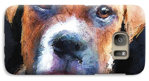 Galaxy Case featuring the painting Pooch by Robert Smith
