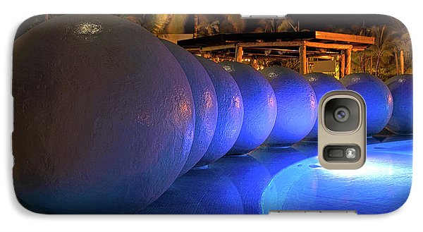 Galaxy Case featuring the photograph Pool Balls At Night by Shane Bechler