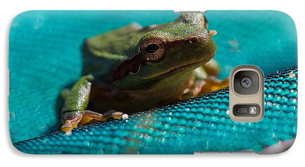 Galaxy Case featuring the photograph Pool Frog by Richard Patmore