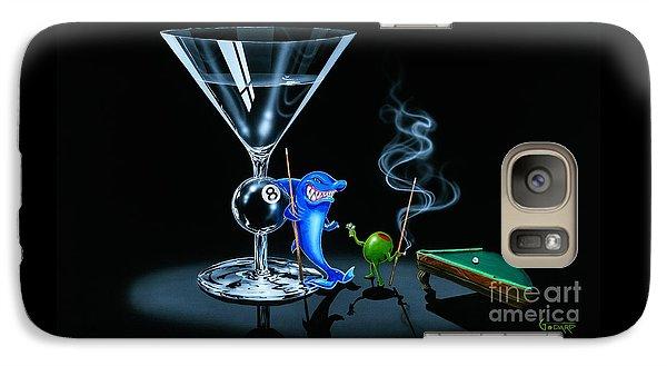 Martini Galaxy S7 Case - Pool Shark by Michael Godard