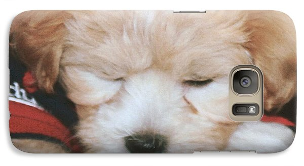 Galaxy Case featuring the photograph Pooped Pup by Diane Merkle